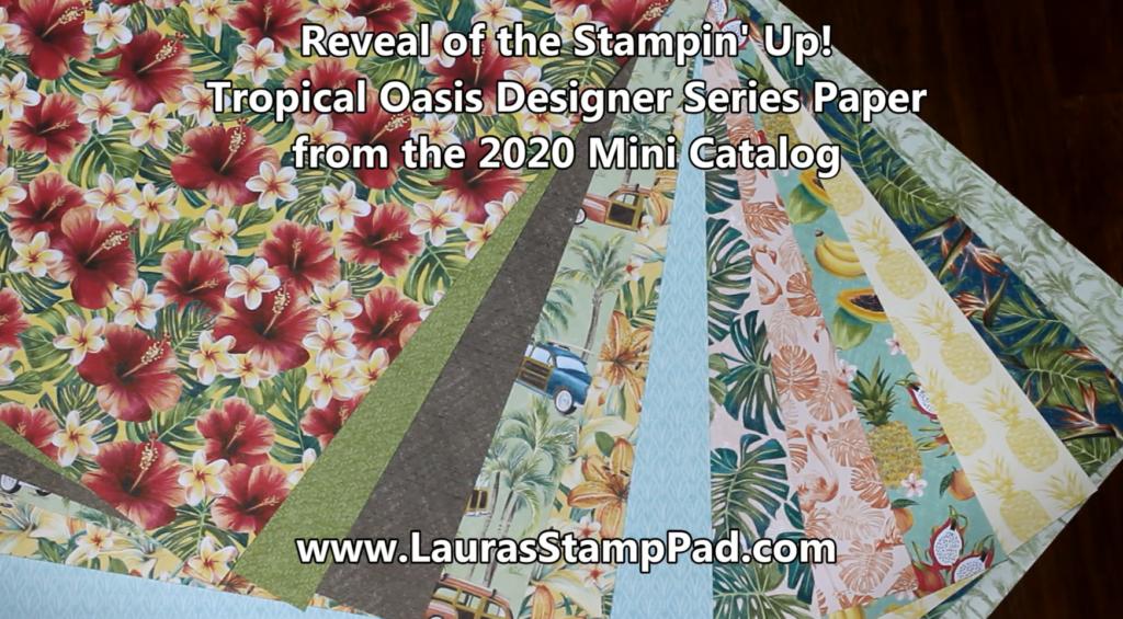 Tropical Oasis, www.LaurasStampPad.com