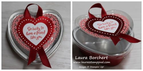 Heart Shaped Brownie Tin, www.LaurasStampPad.com