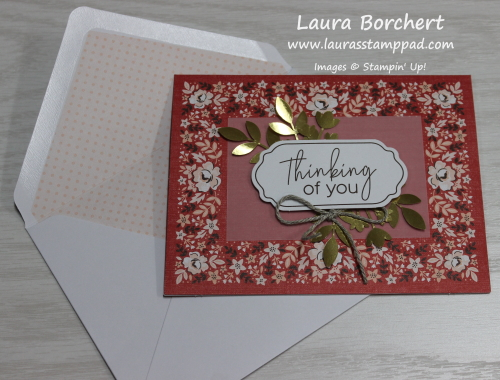 Kerchief Card Kit, www.LaurasStampPad.com