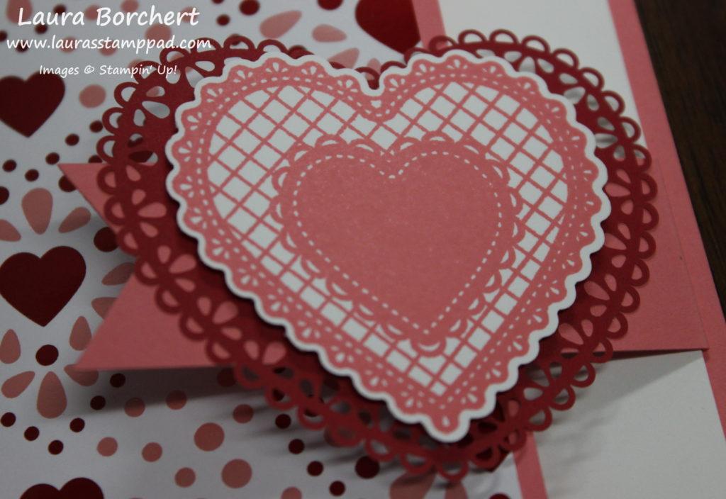 Heart Doilies, www.LaurasStampPad.com