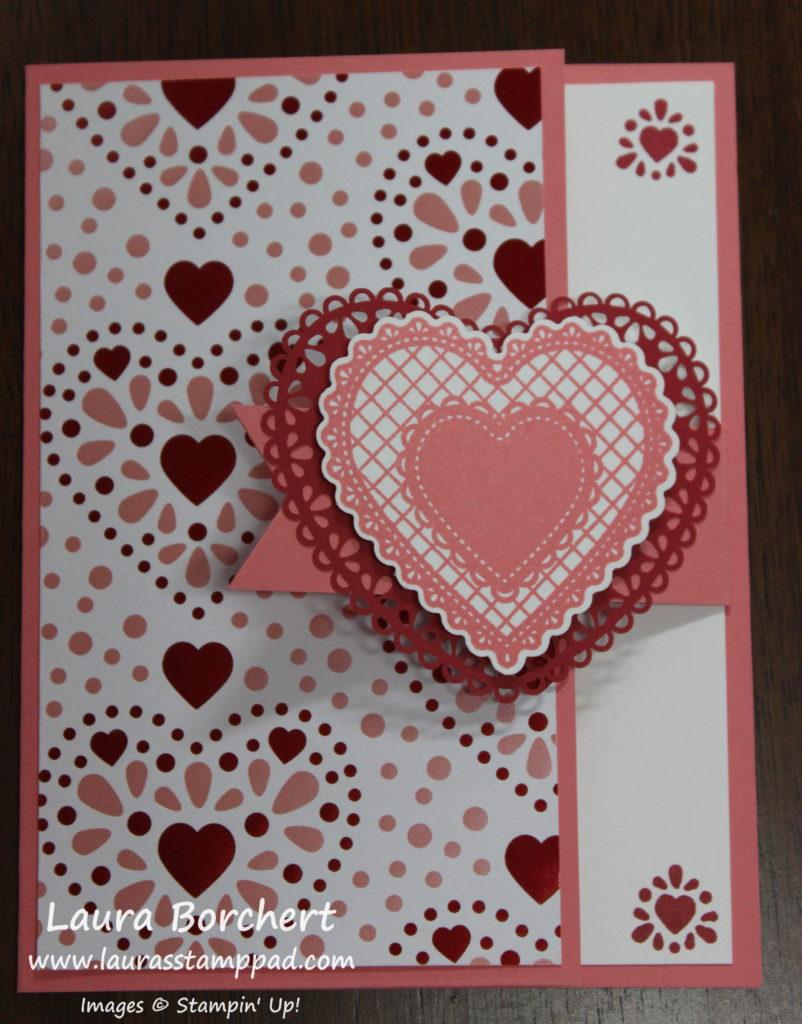 Fun Fold Valentine's Day Card, www.LaurasStampPad.com