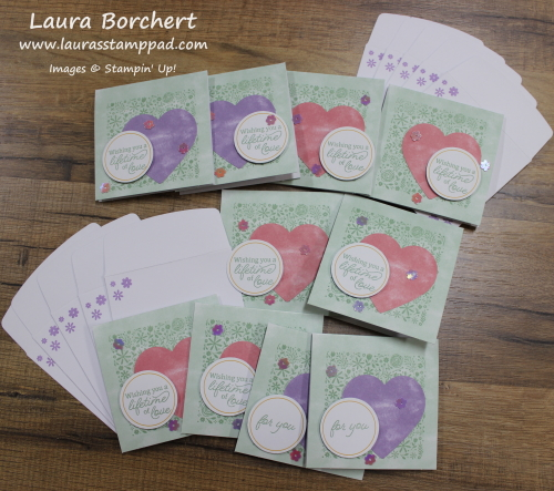 Mini Heart Cards, www.LaurasStampPad.com