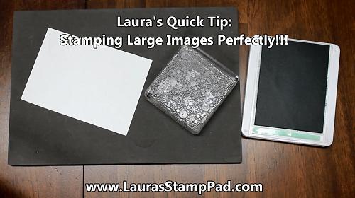 Getting a Crisp Image Stamped, www.LaurasStampPad.com