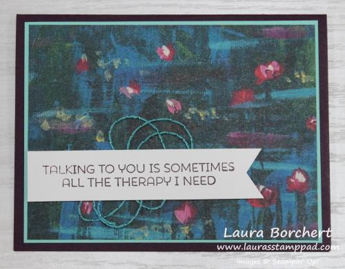 Talking is priceless, www.LaurasStampPad.com
