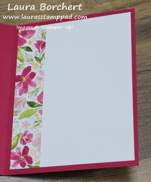 Floral Card Insert, www.LaurasStampPad.com