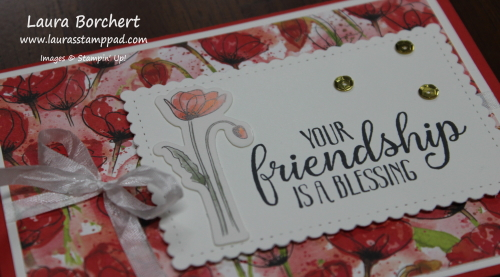 Friendship is a blessing, www.LaurasStampPad.com