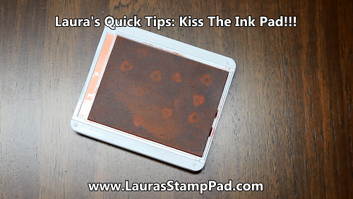 Kiss the ink pad, www.LaurasStampPad.com