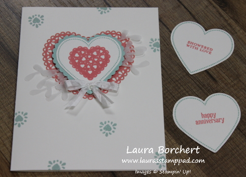 Baby Shower or Bridal Shower Card, www.LaurasStampPad.com