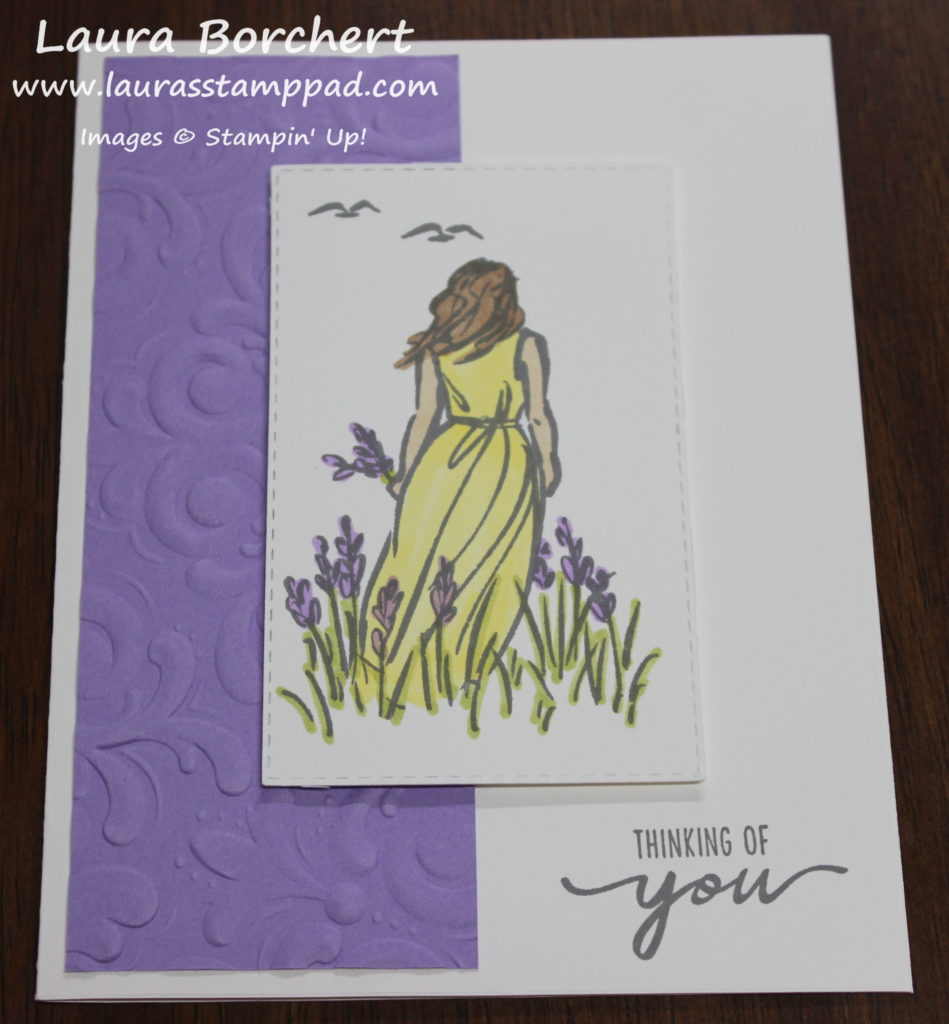 Fields of Lavender, www.LaurasStampPad.com