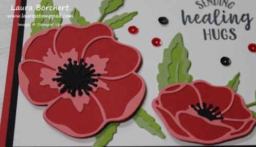 Poppy Flowers, www.LaurasStampPad.com