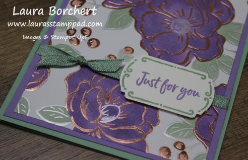 Flowering Foil Designer Series Paper, www.LaurasStampPad.com
