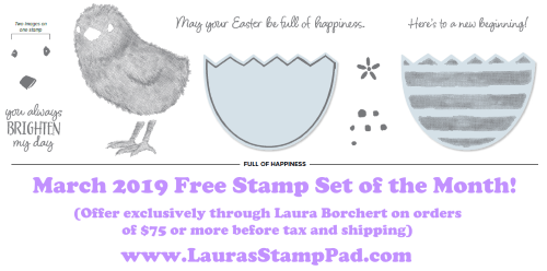 March 2020 Free Stamp Set, www.LaurasStampPad.com