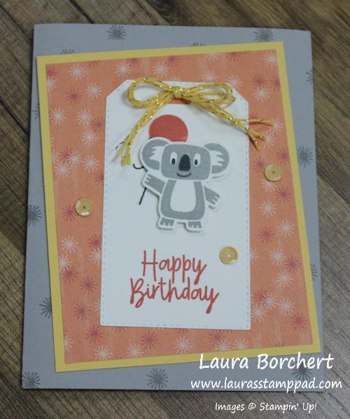 Koala Cutie, www.LaurasStampPad.com