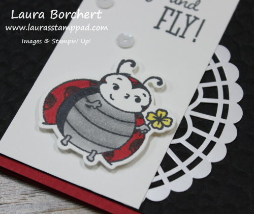 Flying Ladybug, www.LaurasStampPad.com
