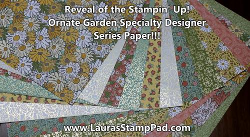 Ornate Garden Designer Paper, www.LaurasStampPad.com