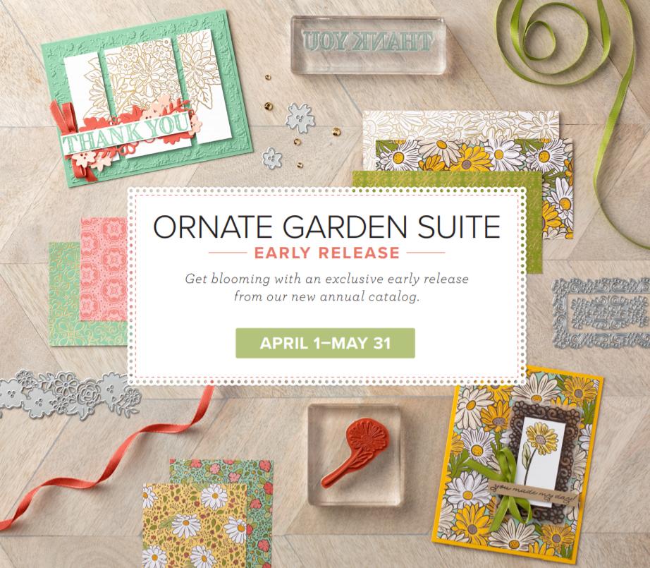 Pre-Released Suite Ornate Garden, www.LaurasStampPad.com