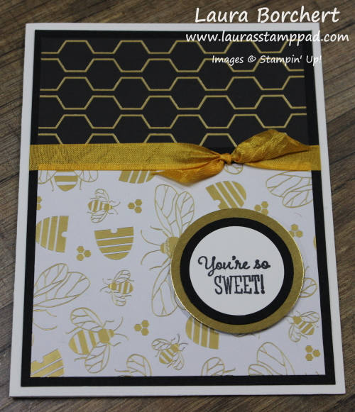 Honey Bee Perfection, www.LaurasStampPad.com