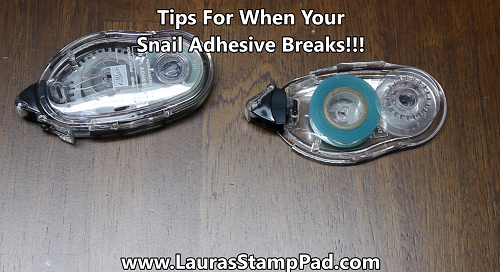 Snail Adhesive Tips, www.LaurasStampPad.com