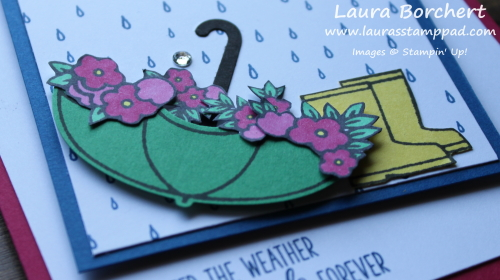 April Showers Bring May Flowers, www.LaurasStampPad.com
