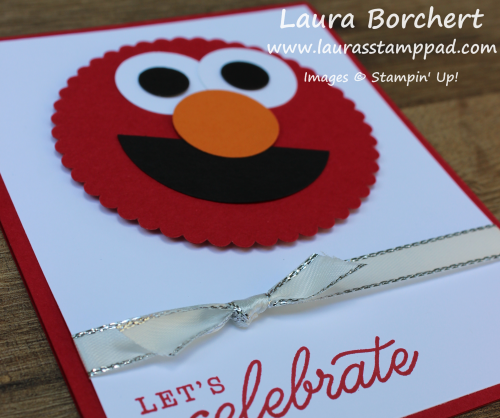 Elmo Punch Art, www.LaurasStampPad.com