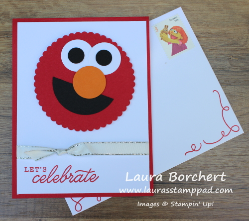 """Elmo Says"" Birthday Invitation, www.LaurasStampPad.com"