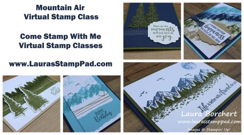 Mountain Air Virtual Stamp Class, www.LaurasStampPad.com