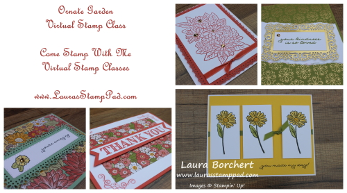 Ornate Garden Virtual Stamp Class, www.LaurasStampPad.com