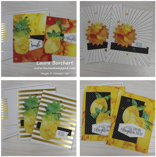 Lemons, Pineapples, and Sunshine, www.LaurasStampPad.com