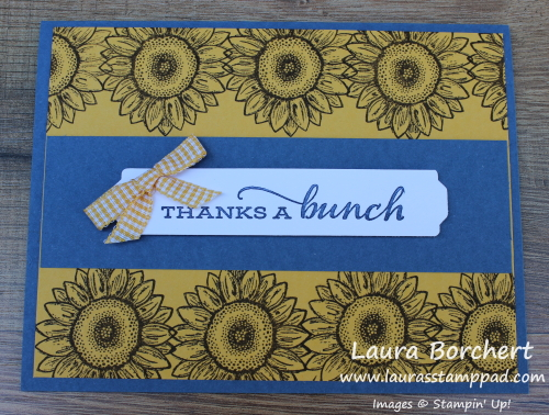 Celebrate Sunflowers, www.LaurasStampPad.com