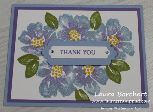 Creating a 2 Tone Flower, www.LaurasStampPad.com