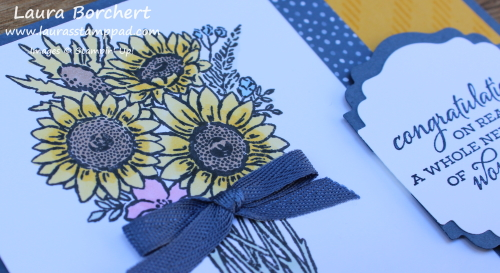 Coloring Sunflowers with Stampin' Blends, www.LaurasStampPad.com
