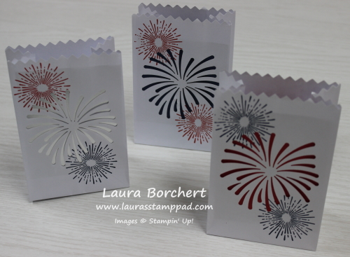 Fireworks & Lanterns at Summertime, www.LaurasStampPad.com