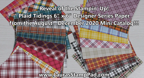 Plaid Tidings Paper, www.LaurasStampPad.com