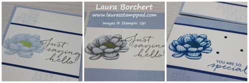 Different Shades of Blue Flowers, www.LaurasStampPad.com