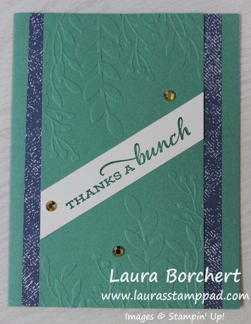 Forever Greenery Embossing Folder, www.LaurasStampPad.com