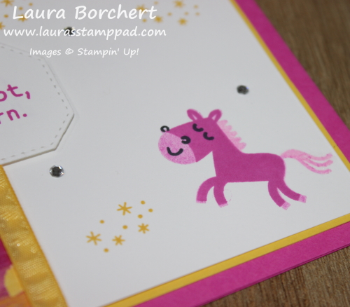 Wink of Stella on a Unicorn, www.LaurasStampPad.com