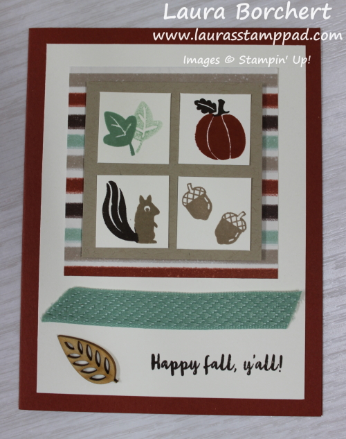 Fall Card with the Banner Year Stamp Set, www.LaurasStampPad.com