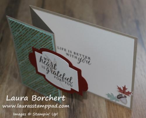 Z Fold Fall Card, www.LaurasStampPad.com