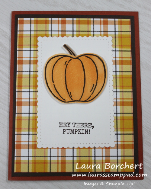 Hey There, Pumpkin, www.LaurasStampPad.com