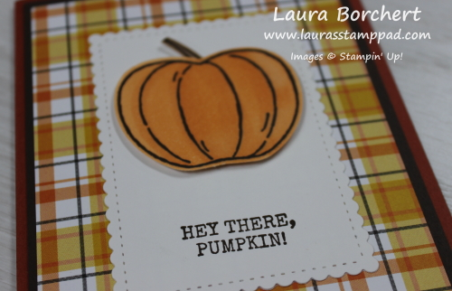 Pumpkin From Harvest Hellos Stamp Set, www.LaurasStampPad.com