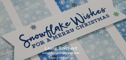 Christmas Card with Snowflakes, www.LaurasStampPad.com
