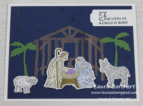 Nativity Christmas Card, www.LaurasStampPad.com