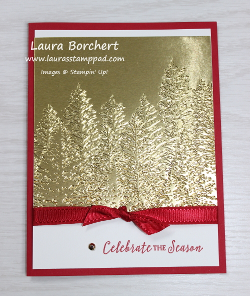 Embossed Trees, www.LaurasStampPad.com