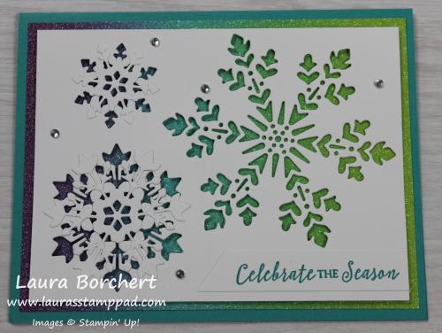 Rainbow Snowflakes, www.LaurasStampPad.com