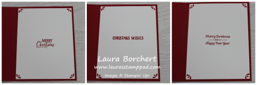 Inside Christmas Card Greetings, www.LaurasStampPad.com