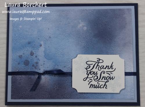 Embossed Designer Paper, www.LaurasStampPad.com