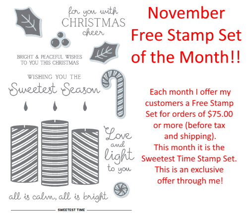 November 2020 Special - Free Stamp Set of the Month, www.LaurasStampPad.com