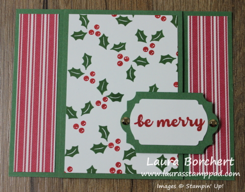 Be Merry, www.LaurasStampPad.com
