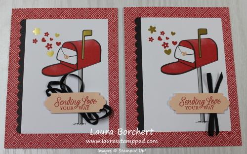 #happymail cards, www.LaurasStampPad.com