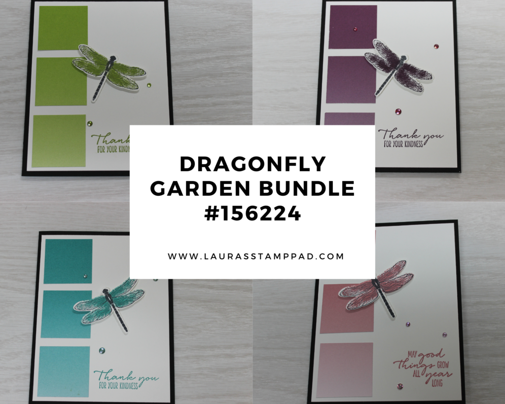 Dragonfly Garden Bundle, www.LaurasStampPad.com